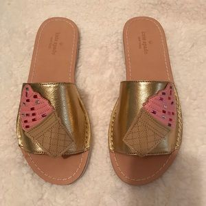 """Kate Spade """"Icey"""" open toe casual slides - 7"""